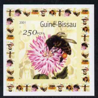 Guinea - Bissau 2001 Bees #4 individual imperf deluxe sheet unmounted mint. Note this item is privately produced and is offered purely on its thematic appeal