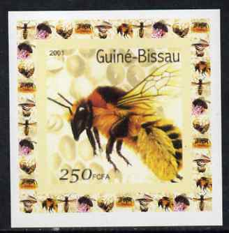 Guinea - Bissau 2001 Bees #5 individual imperf deluxe sheet unmounted mint. Note this item is privately produced and is offered purely on its thematic appeal