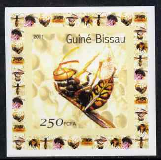Guinea - Bissau 2001 Bees #6 individual imperf deluxe sheet unmounted mint. Note this item is privately produced and is offered purely on its thematic appeal
