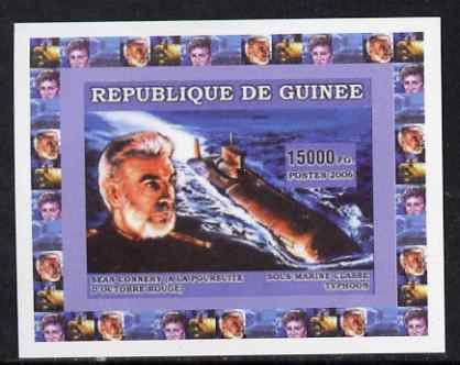 Guinea - Bissau 2006 Submarines #2 - Typhoon Class & Sean Connery individual imperf deluxe sheet unmounted mint