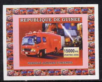 Guinea - Conakry 2006 Japanese Fire Engines #2 individual imperf deluxe sheet unmounted mint. Note this item is privately produced and is offered purely on its thematic appeal