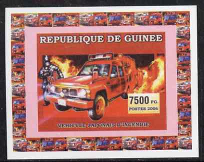 Guinea - Conakry 2006 Japanese Fire Engines #3 individual imperf deluxe sheet unmounted mint. Note this item is privately produced and is offered purely on its thematic appeal