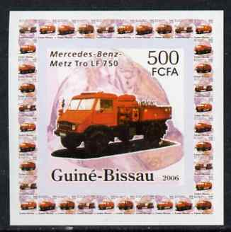 Guinea - Bissau 2006 Mercedes-Benz Fire Engines #1 - LF-750 individual imperf deluxe sheet unmounted mint. Note this item is privately produced and is offered purely on its thematic appeal