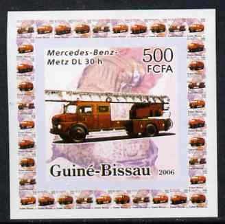 Guinea - Bissau 2006 Mercedes-Benz Fire Engines #2 - DL-30h individual imperf deluxe sheet unmounted mint. Note this item is privately produced and is offered purely on its thematic appeal