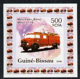 Guinea - Bissau 2006 Mercedes-Benz Fire Engines #3 - LF-16 individual imperf deluxe sheet unmounted mint. Note this item is privately produced and is offered purely on its thematic appeal