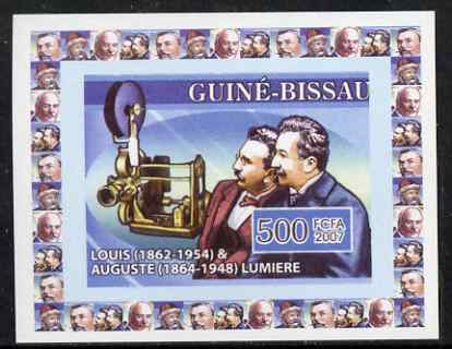 Guinea - Bissau 2007 Inventors #1 - Louis & Auguste Lumiere individual imperf deluxe sheet unmounted mint. Note this item is privately produced and is offered purely on i...