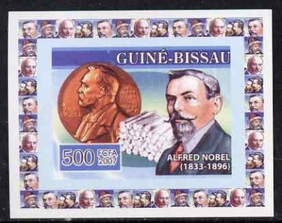 Guinea - Bissau 2007 Inventors #3 - Alfred Nobel individual imperf deluxe sheet unmounted mint. Note this item is privately produced and is offered purely on its thematic...