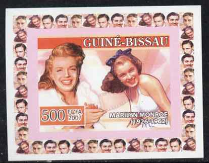 Guinea - Bissau 2007 Cinema Stars #1 - Marilyn Monroe individual imperf deluxe sheet unmounted mint. Note this item is privately produced and is offered purely on its thematic appeal