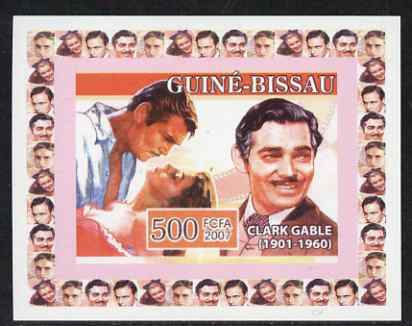 Guinea - Bissau 2007 Cinema Stars #3 - Clark Gable individual imperf deluxe sheet unmounted mint. Note this item is privately produced and is offered purely on its thematic appeal