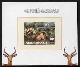 Guinea - Bissau 2008 WWF - Defassa Waterbuck #1 individual imperf deluxe sheet unmounted mint. Note this item is privately produced and is offered purely on its thematic appeal