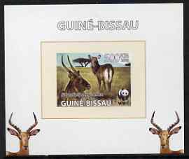 Guinea - Bissau 2008 WWF - Defassa Waterbuck #2 individual imperf deluxe sheet unmounted mint. Note this item is privately produced and is offered purely on its thematic appeal