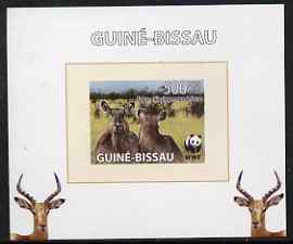 Guinea - Bissau 2008 WWF - Defassa Waterbuck #3 individual imperf deluxe sheet unmounted mint. Note this item is privately produced and is offered purely on its thematic appeal