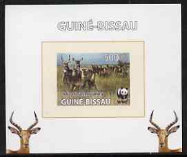 Guinea - Bissau 2008 WWF - Defassa Waterbuck #4 individual imperf deluxe sheet unmounted mint. Note this item is privately produced and is offered purely on its thematic appeal
