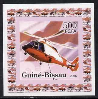 Guinea - Bissau 2006 Red Cross & Emergency Services #1 - Helicopter individual imperf deluxe sheet unmounted mint. Note this item is privately produced and is offered purely on its thematic appeal