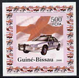 Guinea - Bissau 2006 Red Cross & Emergency Services #2 - Police Car (NYPD) individual imperf deluxe sheet unmounted mint. Note this item is privately produced and is offered purely on its thematic appeal