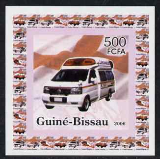 Guinea - Bissau 2006 Red Cross & Emergency Services #3 - Ambulance individual imperf deluxe sheet unmounted mint. Note this item is privately produced and is offered purely on its thematic appeal