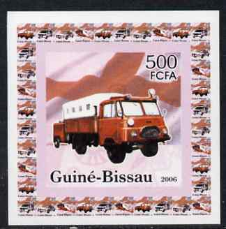 Guinea - Bissau 2006 Red Cross & Emergency Services #4 - Fire Truck individual imperf deluxe sheet unmounted mint. Note this item is privately produced and is offered purely on its thematic appeal