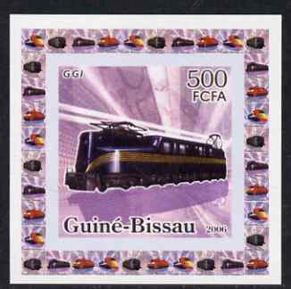 Guinea - Bissau 2006 Famous Trains #2 - GGI individual imperf deluxe sheet unmounted mint. Note this item is privately produced and is offered purely on its thematic appeal