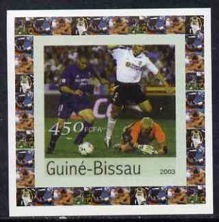 Guinea - Bissau 2003 Athens Olympic Games #1 - Football individual imperf deluxe sheet unmounted mint as Mi 2064