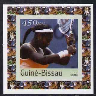 Guinea - Bissau 2003 Athens Olympic Games #2 - Tennis individual imperf deluxe sheet unmounted mint as Mi 2065
