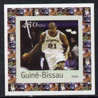 Guinea - Bissau 2003 Athens Olympic Games #4 - Basketball individual imperf deluxe sheet unmounted mint as Mi 2067