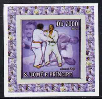 St Thomas & Prince Islands 2006 Olympic Gold Medalists #3 - Susuki  Keiji (Judo) individual imperf deluxe sheet unmounted mint. Note this item is privately produced and is offered purely on its thematic appeal