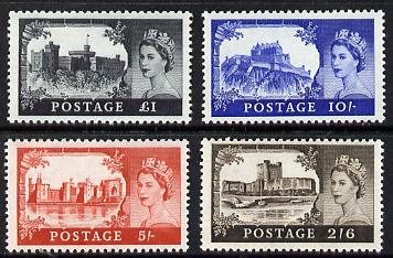 Great Britain 1967 Castles (wmk Multiple Crowns) set of 4 unmounted mint, SG 595a-98a