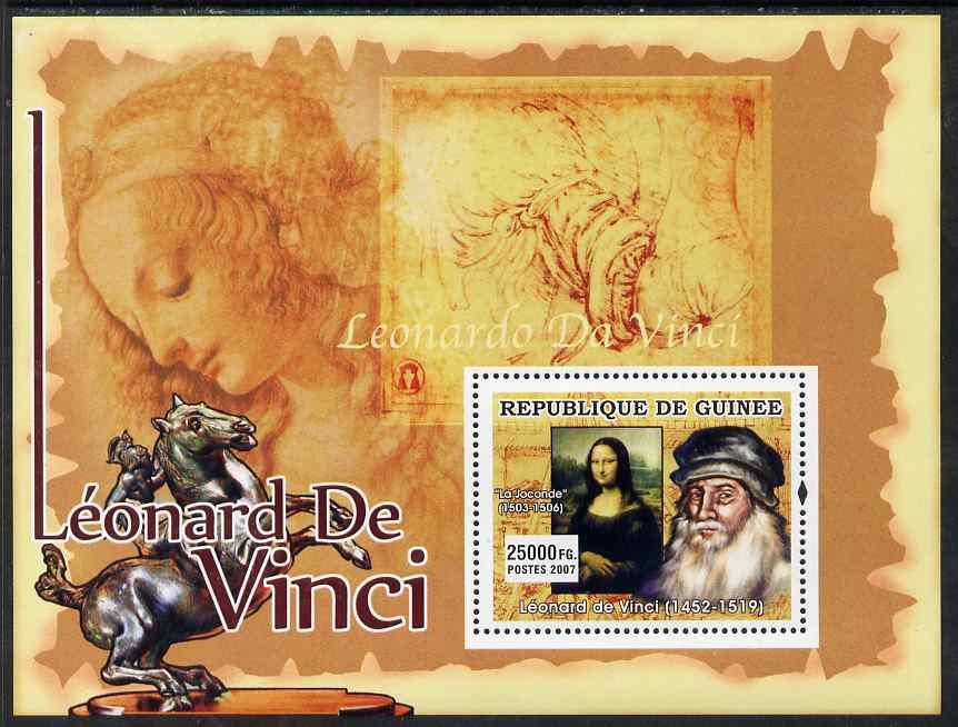 Guinea - Conakry 2007 Leonardo da Vinci (Mona Lisa) perf souvenir sheet unmounted mint