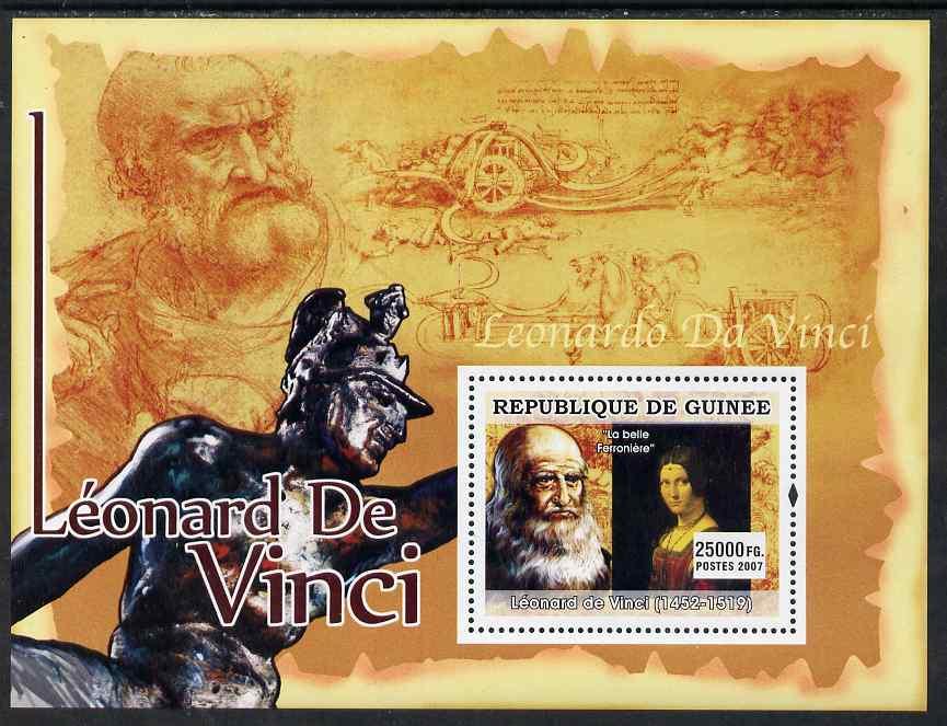 Guinea - Conakry 2007 Leonardo da Vinci (La Belle Ferroniere) perf souvenir sheet unmounted mint