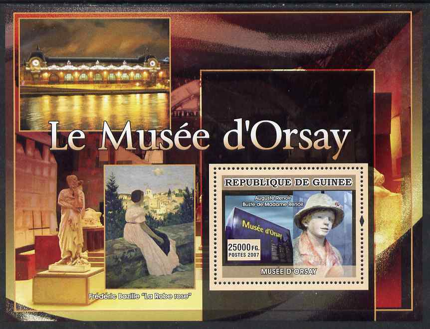 Guinea - Conakry 2007 Museum of Orsay (Renoir & Bazille) perf souvenir sheet unmounted mint