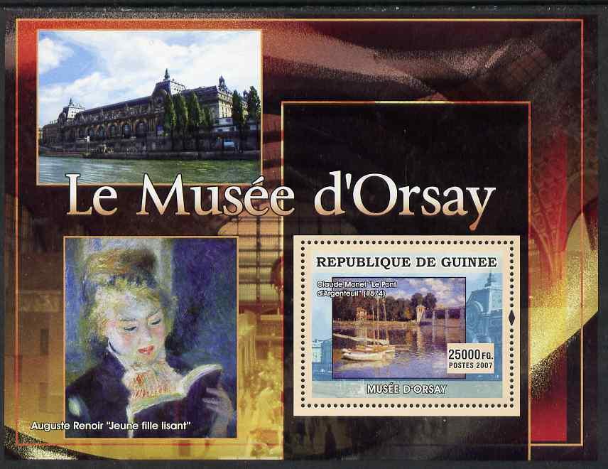 Guinea - Conakry 2007 Museum of Orsay (Renoir & Monet) perf souvenir sheet unmounted mint