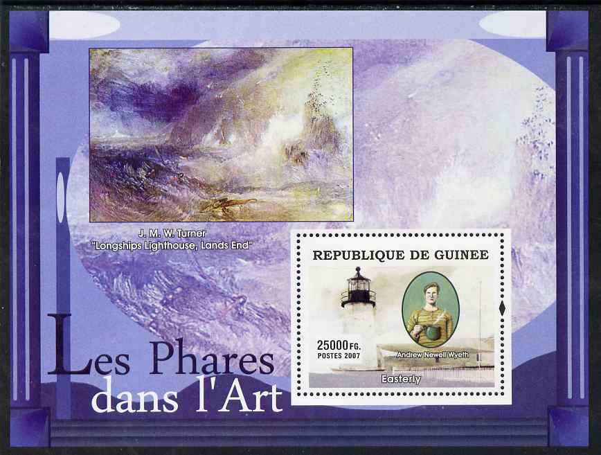 Guinea - Conakry 2007 Lighthouses in Art (Wyeth & Turner) perf souvenir sheet unmounted mint