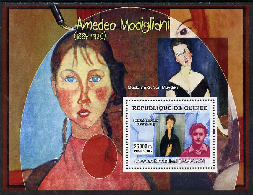 Guinea - Conakry 2007 Italian Painters (Modigliani) perf souvenir sheet unmounted mint