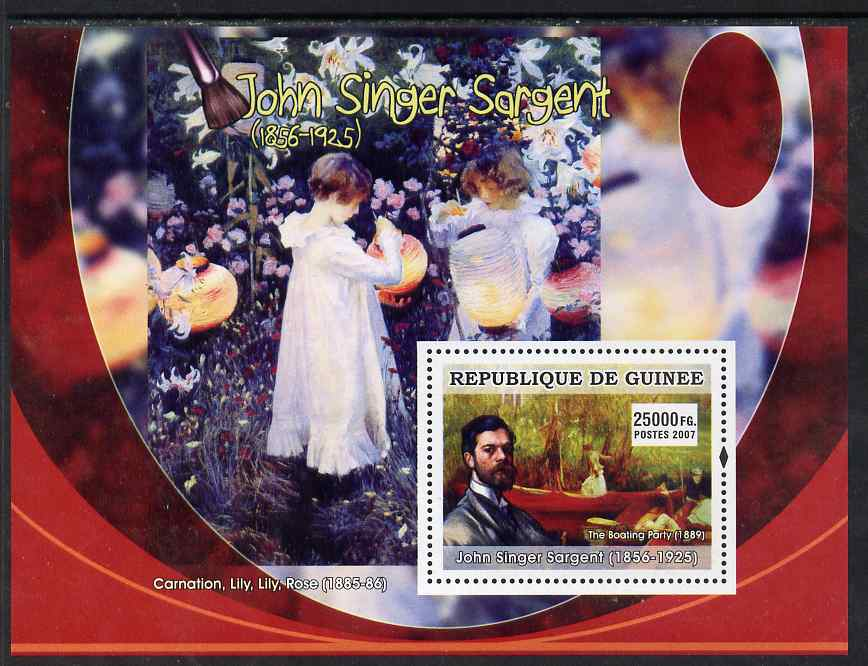 Guinea - Conakry 2007 American Impressionists (John Singer Sargent) perf souvenir sheet unmounted mint