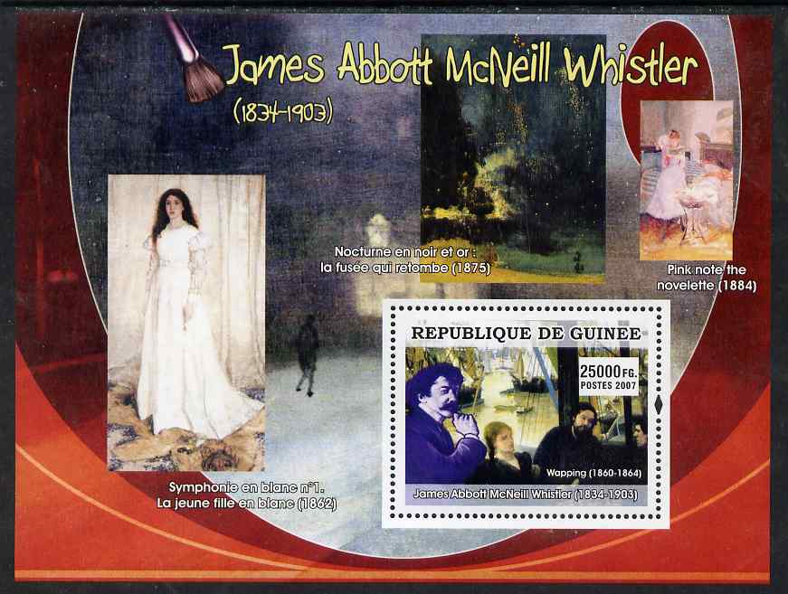 Guinea - Conakry 2007 American Impressionists (James Abbot McNeil Whistler) perf souvenir sheet unmounted mint
