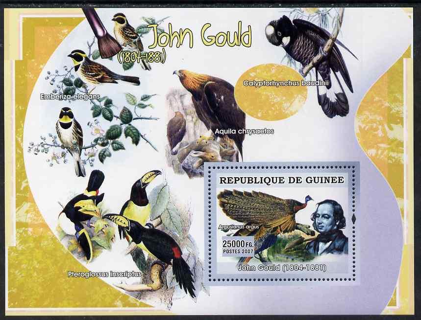Guinea - Conakry 2007 Birds in Art (John Gould) perf souvenir sheet unmounted mint