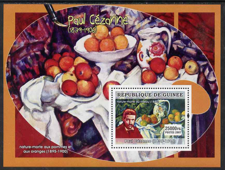 Guinea - Conakry 2007 French Impressionists #2 (Paul Cezanne) perf souvenir sheet unmounted mint