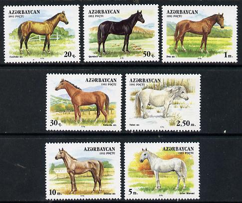 Azerbaijan 1993 Horses perf set of 7 unmounted mint SG 93-99*