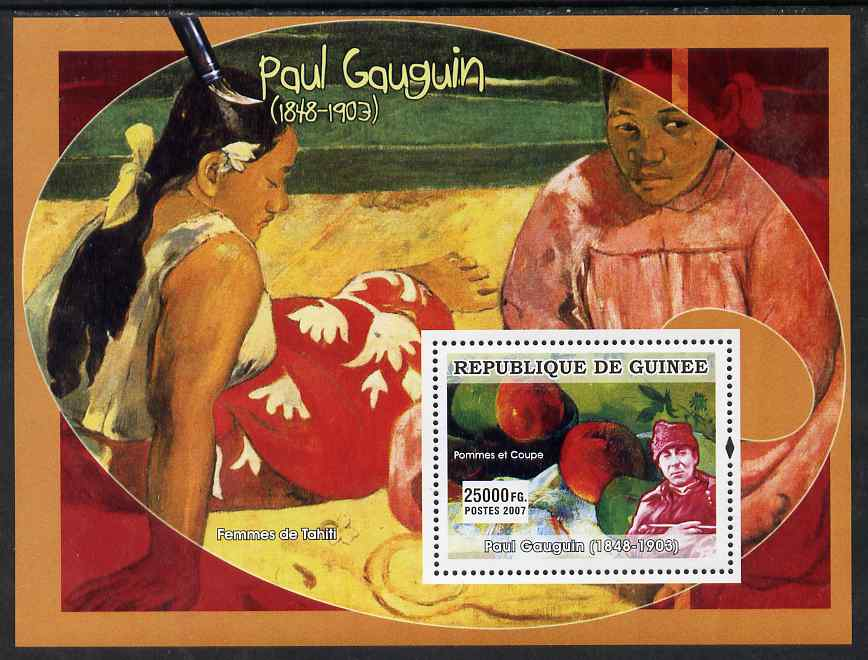 Guinea - Conakry 2007 French Impressionists #2 (Paul Gauguin) perf souvenir sheet unmounted mint