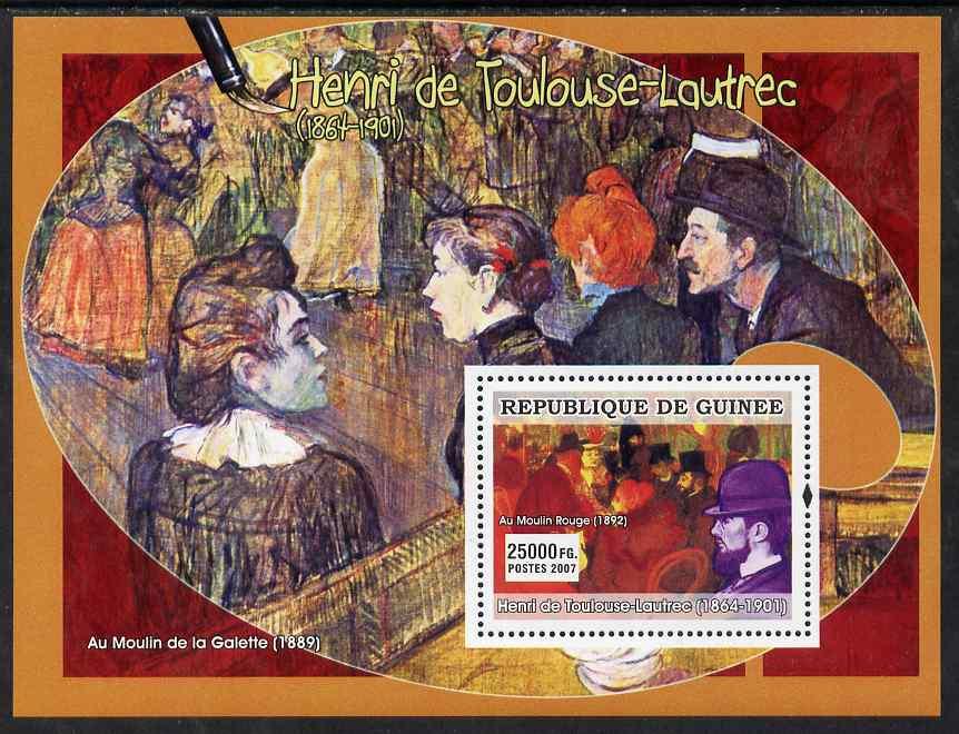 Guinea - Conakry 2007 French Impressionists #2 (Henri de Toulouse-lautrec) perf souvenir sheet unmounted mint