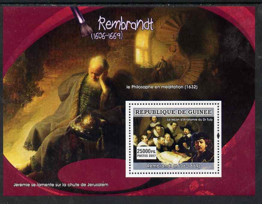 Guinea - Conakry 2007 Dutch Painters (Rembrandt) perf souvenir sheet unmounted mint