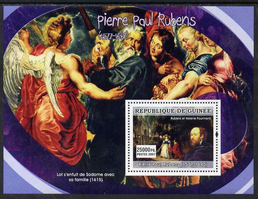 Guinea - Conakry 2007 Flemish Painters (Peter Paul Rubens) perf souvenir sheet unmounted mint