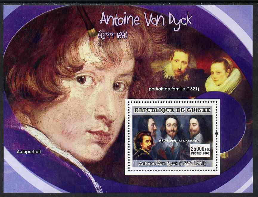 Guinea - Conakry 2007 Flemish Painters (Antoine Van Dyck) perf souvenir sheet unmounted mint
