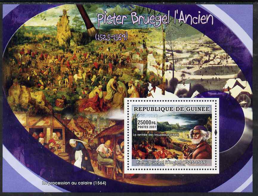 Guinea - Conakry 2007 Flemish Painters (Pieter Bruegel) perf souvenir sheet unmounted mint