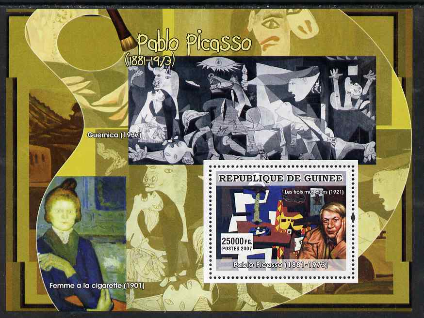 Guinea - Conakry 2007 Spanish Painters (Pablo Picasso) perf souvenir sheet unmounted mint