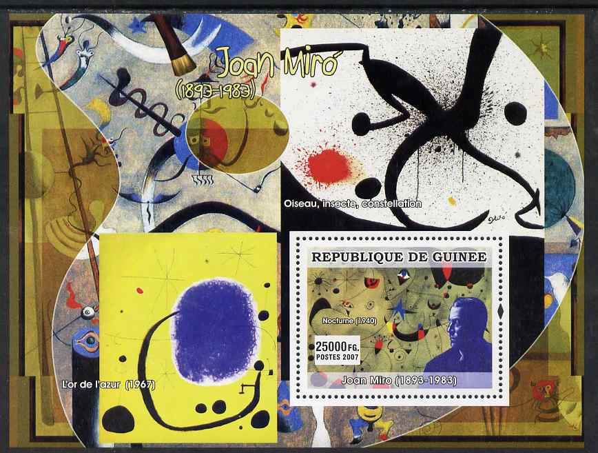 Guinea - Conakry 2007 Spanish Painters (Joan Miro) perf souvenir sheet unmounted mint