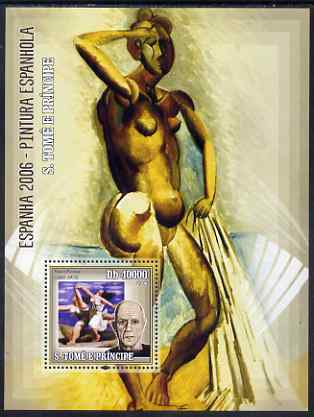 St Thomas & Prince Islands 2006 Spanish Painters (Picasso) perf souvenir sheet unmounted mint, Mi BL 530