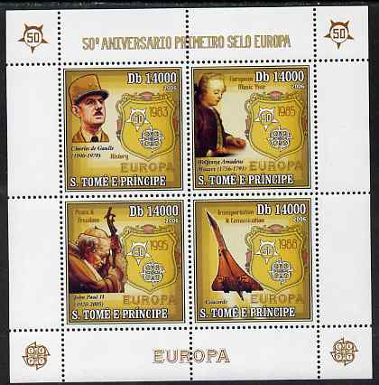 St Thomas & Prince Islands 2006 50th Anniversary of First Europa Stamp perf sheetlet containing 4 values unmounted mint, Mi 2749-52