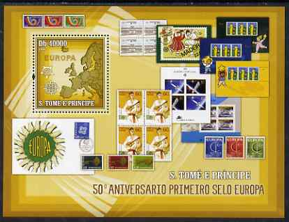 St Thomas & Prince Islands 2006 50th Anniversary of First Europa Stamp perf souvenir sheet unmounted mint, Mi BL 538