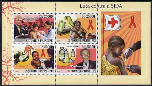 St Thomas & Prince Islands 2008 First Aid & Medical perf sheetlet containing 4 values unmounted mint